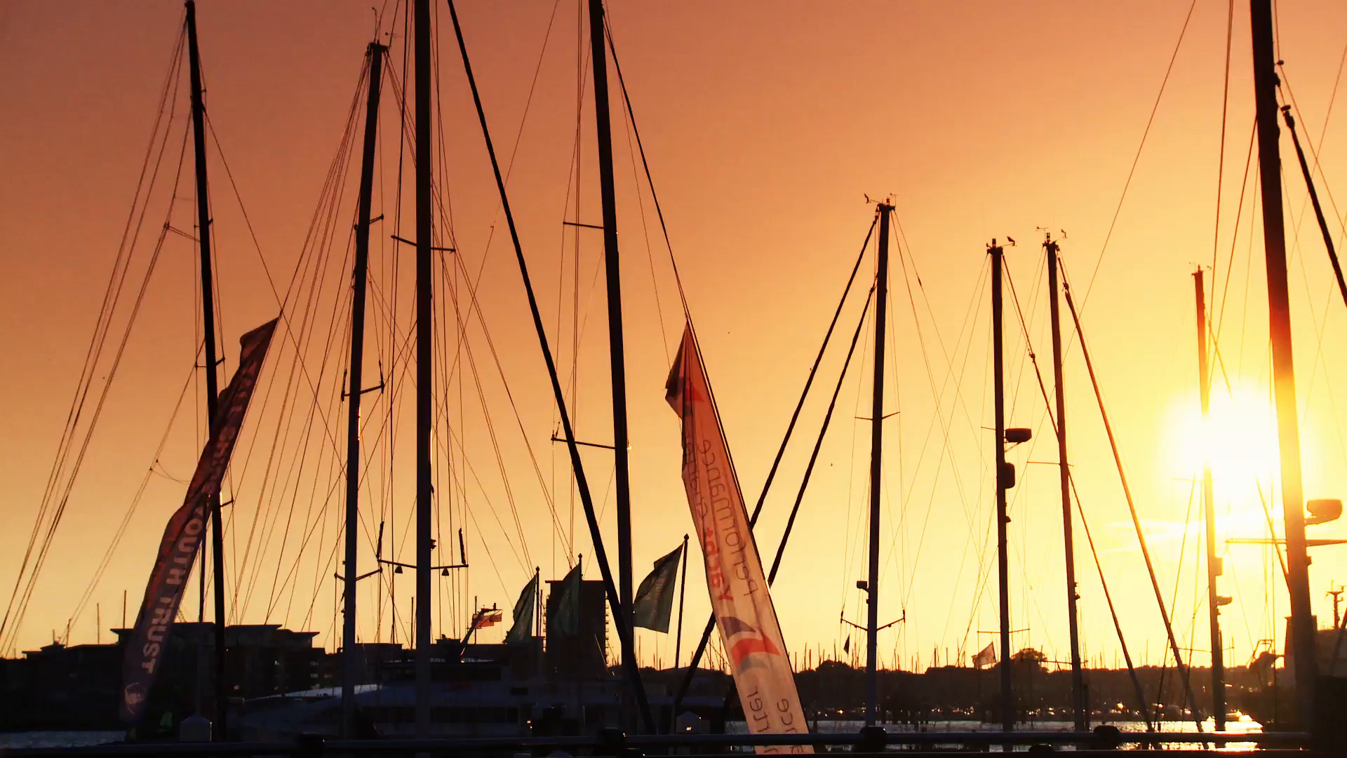 Sunset over yachts 3.mov poster